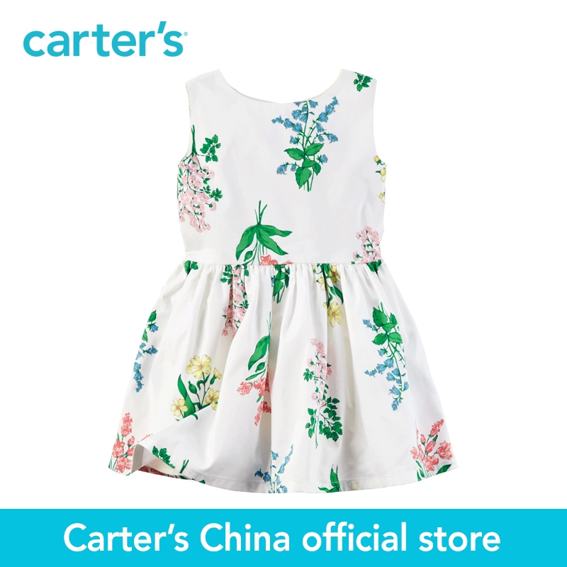 Carter's 1pcs baby children kids Sateen Floral Dress 251G336,sold by Carter's China official store carter s 1 pcs baby children kids long sleeve embroidered lace tee 253g688 sold by carter s china official store