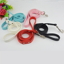 (50 Pieces/lot) Hot Sale Plain Sytles Pu Leather S/M Size Leashes Lead for Dogs and Pets
