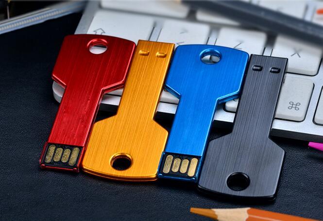USB Flash Drive real capacity pendriveping Gift USB Flash Drive Pen cool Metal Key Card Memory Stick Drives16G8G Micro Data S44