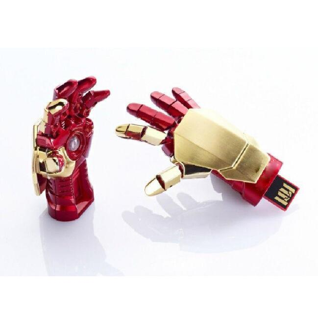 USB Flash Drive 128GB  Pen Drive Pendrive Iron Man Hand Style 8GB 16GB 32GB 64GB 256GB Usb 2.0 Memory Stick