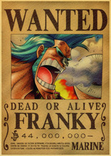 Vintage Paper Retro anime poster – Luffy wanted One Piece Posters/kid cudi poster/Vintage Home Wall sticker Decor 30*21cm