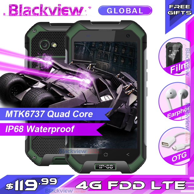 Fast shipping Blackview BV6000S Mobile Phone Quad Core 4G FDD LTE  2GB +16GB 13.0MP IP68 Waterproof Smartphone