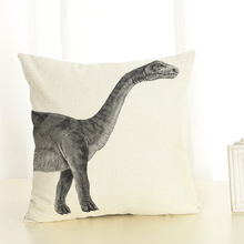 Nordic Dinosaur Fossils Cushion Covers Pillowcases Linen Cotton Square Cushion Cover Seat Sofa Home Decoration Pillow Cover