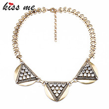 New Styles KISS ME Fashion Jewelry Antique Glass stone Heart Pendant Necklace