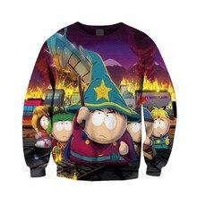 Женщины Мужчины South Park Взрыва 3D Топы печати Толстовка Пуловеры Повседневная Перемычка Бегуном Плюс Размер
