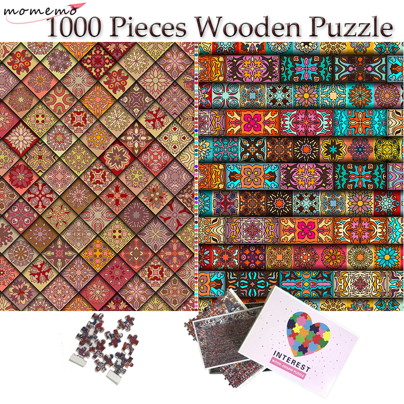 MOMEMO Dazzling Puzzle Wooden Puzzle 1000 Pieces Jigsaw Puzzles 1000 for Adults Interesting Toys Teenagers Kids