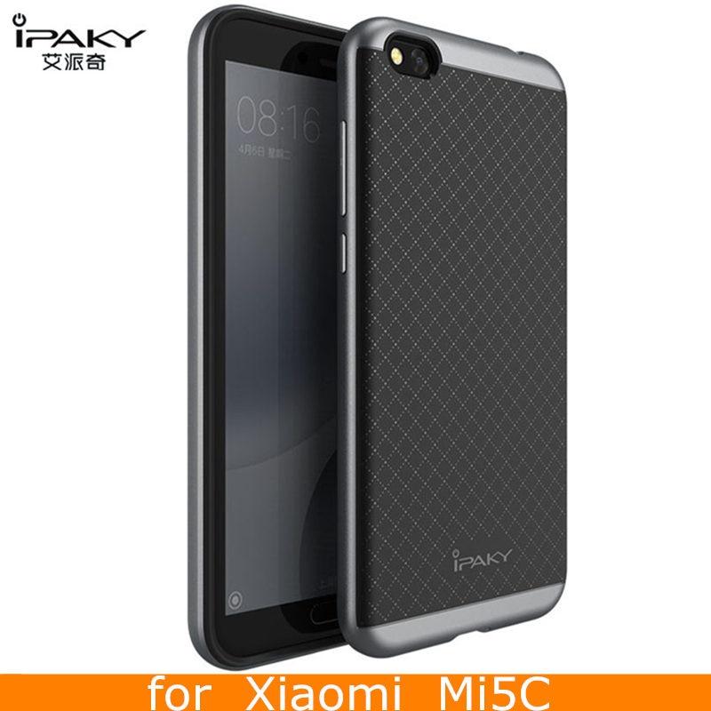 Pentru cazul Xiaomi Mi5C Husa originală iPaky Marcă silicon PC hibrid de protecție pentru husa Xiaomi Mi 5C