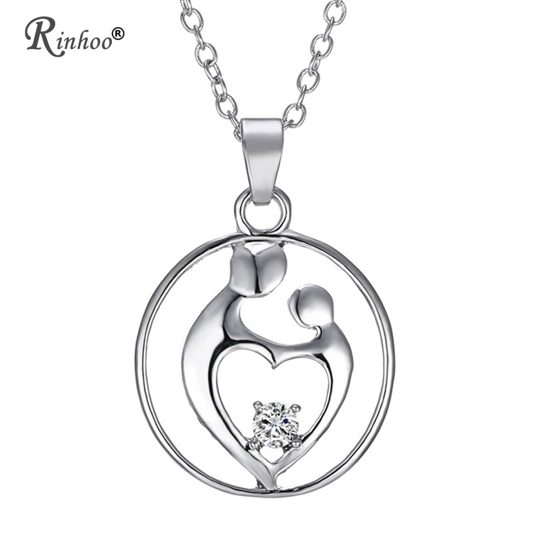 2019 Crystal Love Heart Mom Pendant Chain Necklace Mum Mother/'s Day Jewelry Gift