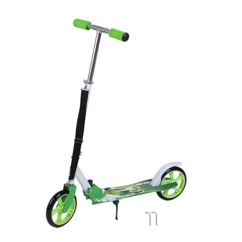 Adulte enfants coup de pied Scooter pliable deux 205mm roue hauteur réglable Scooter Portable vélo urbain Campus transport