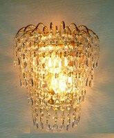 Luz de parede cristal rainha coroa ouro k9 arandela lâmpada de parede luzes