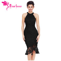 Dear Lover Lace Party Dress Vestido De Renda Sexy Ladies Elegant Sleeveless Fishtail Vintage Bodycon Dress