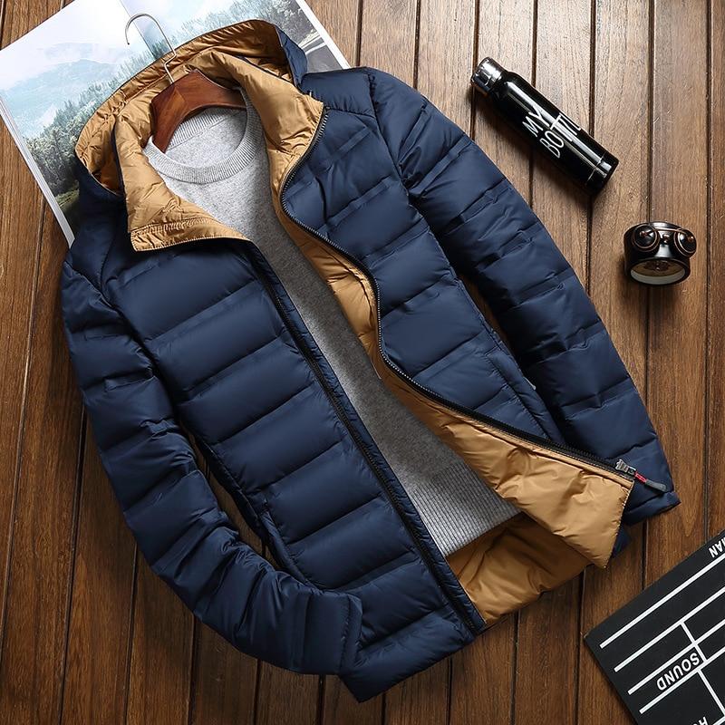 2018 Nuovo Inverno Caldo Bianco Bassi Anatra Jacket Capispalla Per Uomo Di Spessore Della Neve Parka Con Cappuccio Cappotto Maschile Casual Bassi Termico Giacca Uomini