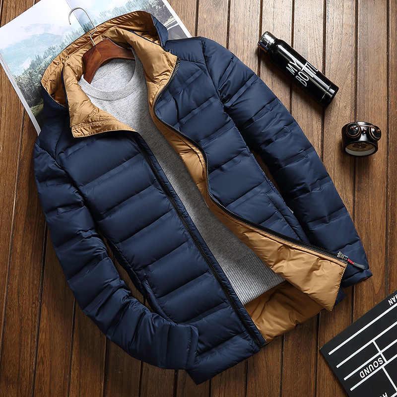 2018 новая зимняя теплая белая пуховая верхняя одежда мужская куртка толстые зимние парки пальто с капюшоном мужская повседневная теплая пуховая куртка мужская