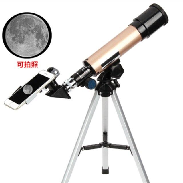 Professional Telescope Astronomical Monocular With Tripod Refractor Spyglass Moon Watching Monocular Telescope for Beginner
