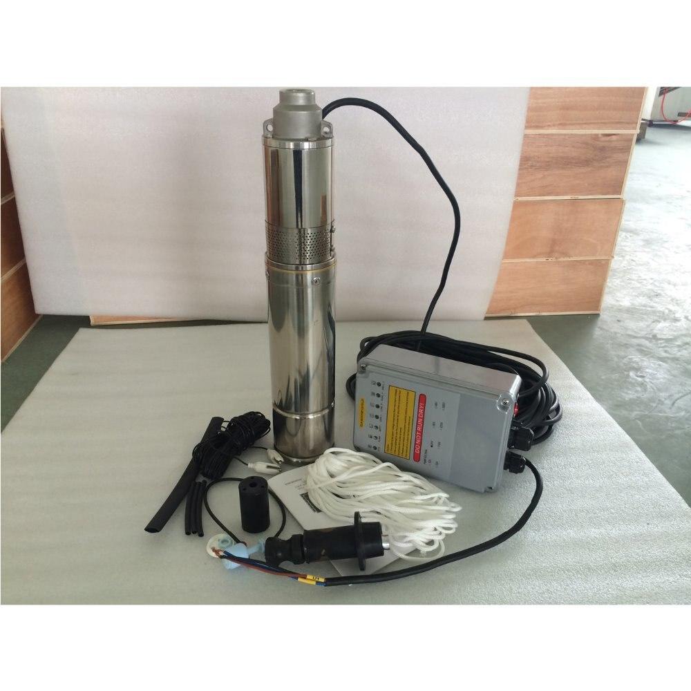 1 HP bomba de agua solar alta calidad riego agrícola bomba de agua de alta presión 4SPST3 6/80 D48/750
