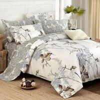 アメリカのカントリースタイル寝具セット品質エジプト綿の寝具セット緑の葉プリント布団カバー寝具セット4ピー