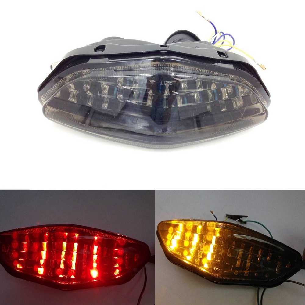 Smoke / Clear Motorcycle LED Brake Tail Light Turn Signal TailLight Case For Suzuki DL 650 1000 V-Strom 2003-2008 aftermarket free shipping motorcycle parts led tail brake light turn signals for 2008 2012 suzuki hayabusa gsx1300r clear