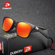 DUBERY Vintage Sunglasses Polarized Mens Sun Glasses For Men Square Shades Driving Black Oculos Male 8 Colors Model