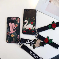 Novelty Soft Crane Spring Flower Mobile Phone Housing For IPhoneX Plastic Silicone Protective Shell Sexy Cellphone