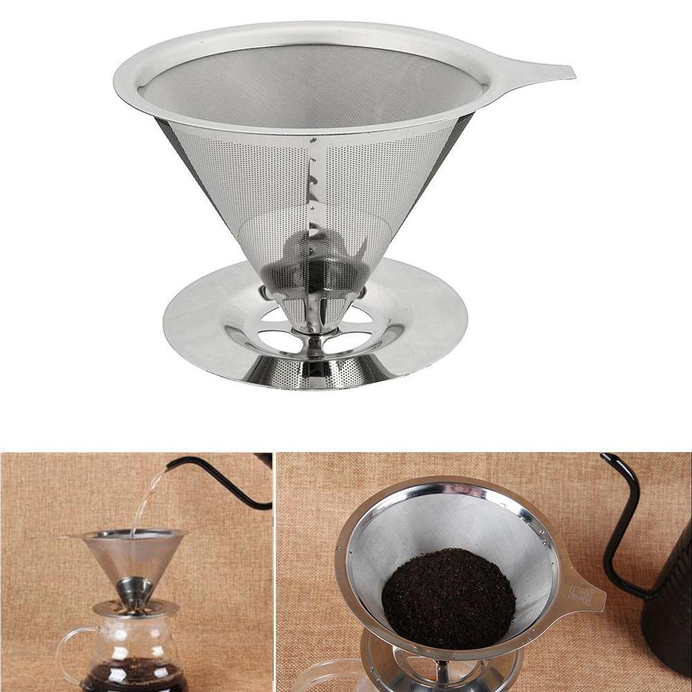 Nouveau filtre à café réutilisable en acier inoxydable