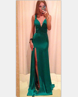 Free Shipping Western Style Hot Sale Hater Neck Cross Back Jag Woman Long Formal Dress