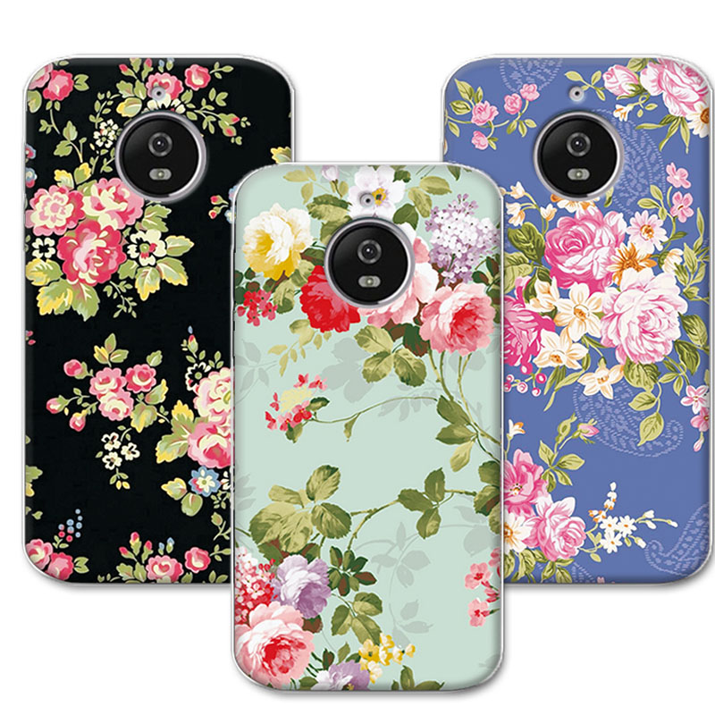 adlikeme luxury floral painted colorful phone cases for coque moto e4 plus 5 5 tpu silicone case. Black Bedroom Furniture Sets. Home Design Ideas