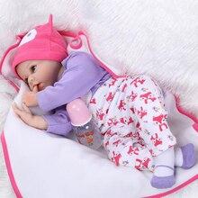 55 СМ Силиконовые reborn baby doll toys for girl, lifelike reborn детские играть дома игрушки подарок на день рождения девочки brinquedos bonecas
