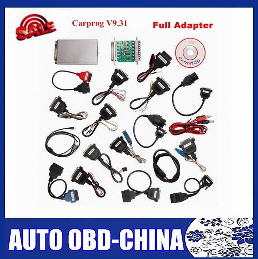 Цена за Продвижение CARPROG V9.31 полный 21 адаптер Профессиональный CARPROG ЭБУ программист Авто Ремонт Airbag Reset Инструменты ЭБУ чип-тюнинг