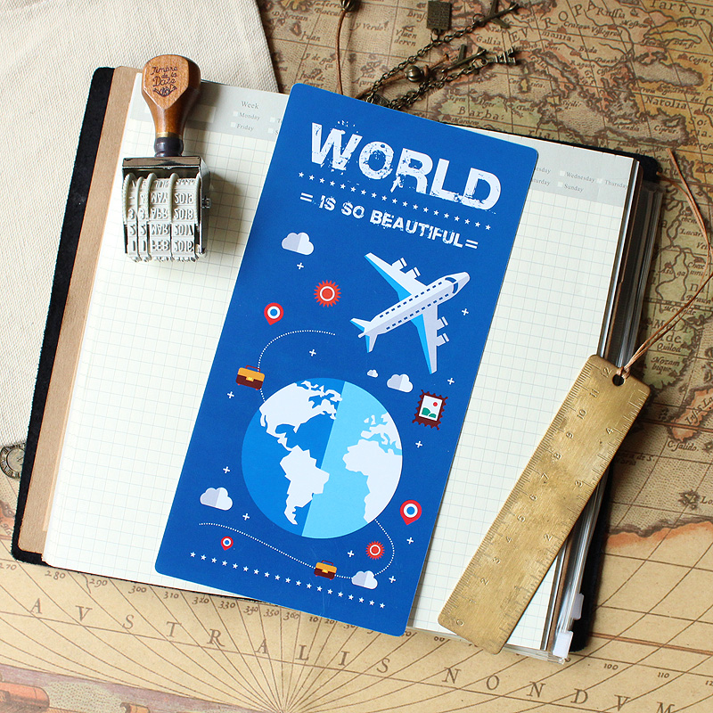 Fromthenon Vintage Travelers Notebook Writing Mat Plate Grid Ruler For Midori Notebook Creative Diary Decoration Gift Stationery