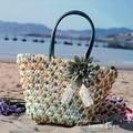 Straw Bag 2015 New Hot Summer Fashion Beach Bags Woven Light Material Women Bag Free Shipping A1118