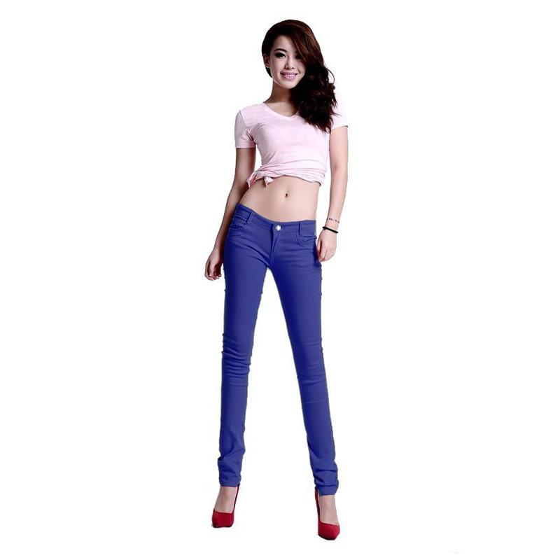 New Korean Women Pencil Pants Candy Color Skinny Jeans Women Hips Fitness Trousers Female Jeans Plus size new full color candy cotton pants korean women thin elastic jeans pencil pants woman s slim skinny sexy trousers size 25 31
