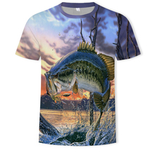 2018 new men leisure 3d printing t shirt, funny fish printed and women tshirt Hip hop T-shirt Harajuku Asian size s-4xl