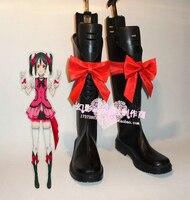 Love Live! KiRa KiRa Sensation! Nico Yazawa Black Halloween Cosplay Long Shoes Boots H016