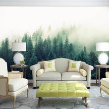 Пользовательские 3d Papel фрески природа туман деревья лес обои для дивана фон 3d настенные фотообои обои 3D настенные фрески