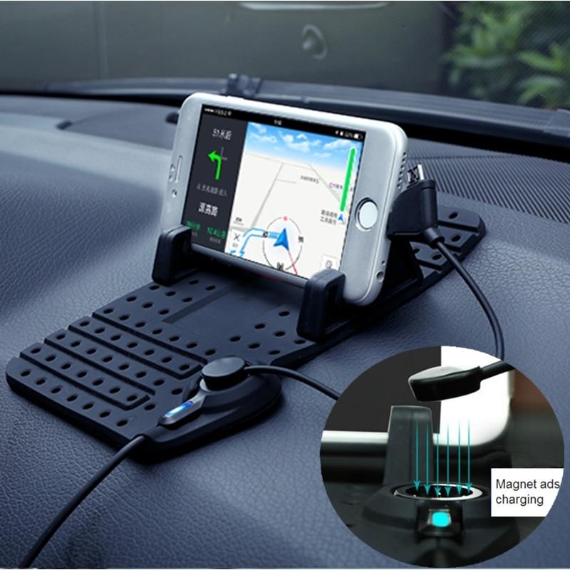 bilder für Universal Anti-rutsch-auto Halter Für Lg G3 G4 G5 V20 X5 K3 K10 K8 Ladegerät Weiche Silikon Handy GPS Halterung stehen
