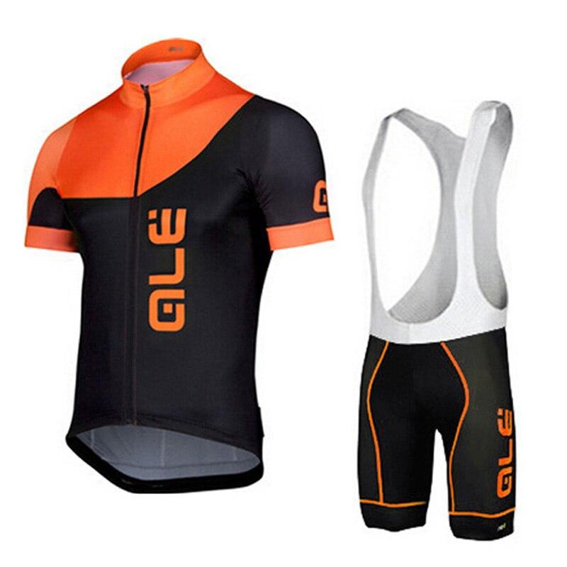 df477a41b0 Passeios de Bicicleta de Estrada dos homens ternos Laranja Verão Sets  Ciclismo Jersey Curto Manga   Bib Shorts MTB Equitação Sportswears