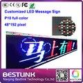 P10 открытый полноцветный электронные рекламные щиты из светодиодов движется сообщение вывеска 48 * 192 пикселей из светодиодов движущихся знак для такси топ из светодиодов diy kit