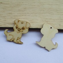 Free shipping, wholesale high quality New design dog die cutting wood Angle DIY scrapbook 32mm*32mm 100pcs 017001064