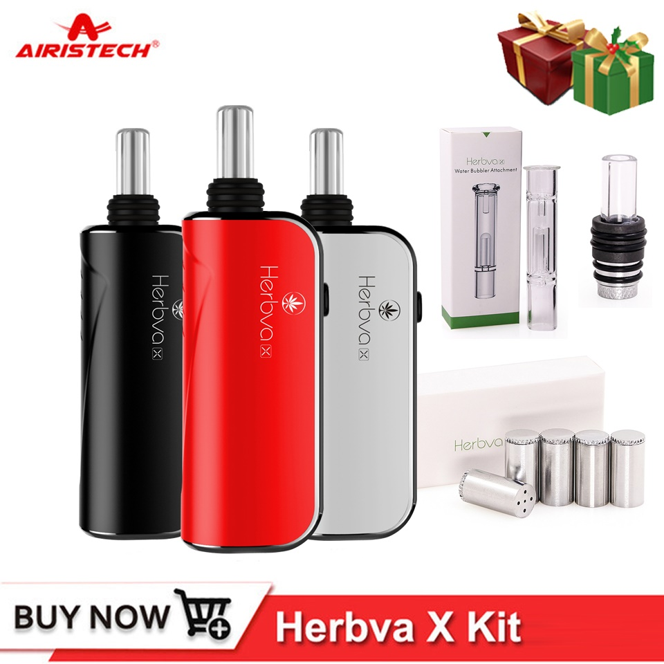 Airistech Herbva X Dry Herb Vape Kit Vaporizer Pen 1000mah Heating Coil Head Core Vapor Glass