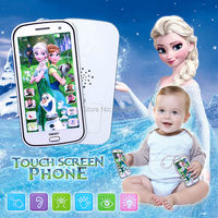 English Cartoon Multifunctional Baby Toy Phone Kids Mobile With Song Let It Go Electronic Musical Toy
