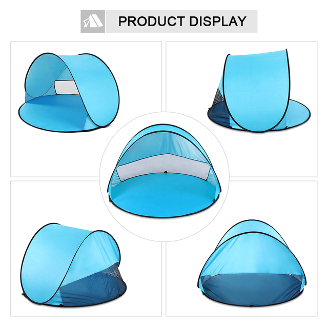 Oudoor Ultralight Camping Tent Instant Pop Up Tent Baby Beach Tent Camping Hiking Tent Anti Uv Sun Shelter For Fishing Hiking 3