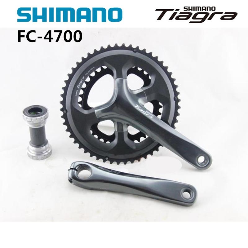 Shimano Tiagra fc 4700 10-Speed 50-34T 52-36T 165mm 170mm Crankset with BB-RS500 Bottom Bracket запчасть shimano tiagra 4700 172 5 мм 50 34t