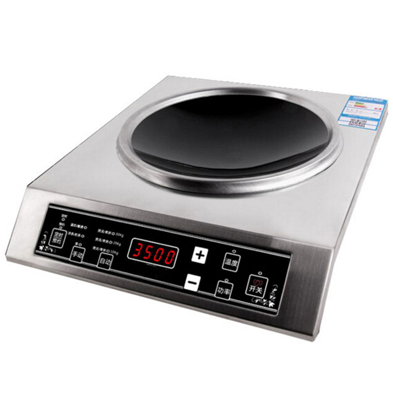VOSOCO Concave High power electromagnetic oven 3500W Commercial Induction cooker touch Control Electromagnetic furnace Quick-fry 220v 50hz hrz288 home concave induction cooker 3000w high power blasted touch screen embedded battery stove 26 5cm concave