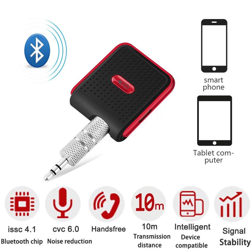 ENKLOV Manos Libres Bluetooth Telefono Para Autos Jack Universal De Jack Bluetooth 3,55 mm Manos Libres Coche Bluetooth Aux Adecuado Para Smartphones, Coche Manos Libres.