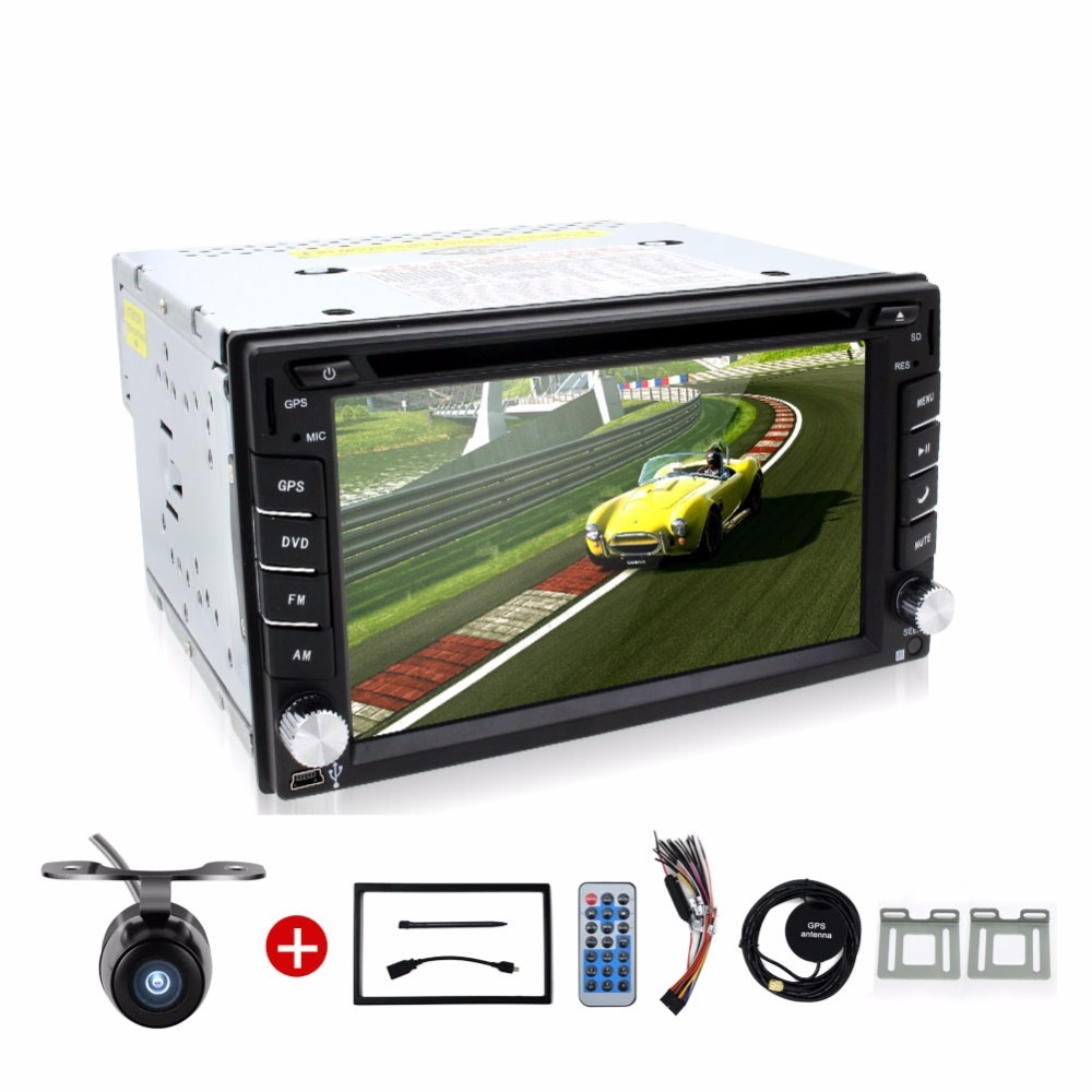 2 DIN autoradio car TV dvd player GPS/Radio tuner/MP3/USB/SD/Bluetooth/Stereo/Video Free Map and Camera