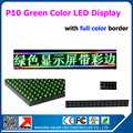 "19 "" X 95"" Green Color LED display screen programmable scrolling message led sign board for business and store 49*241cm"