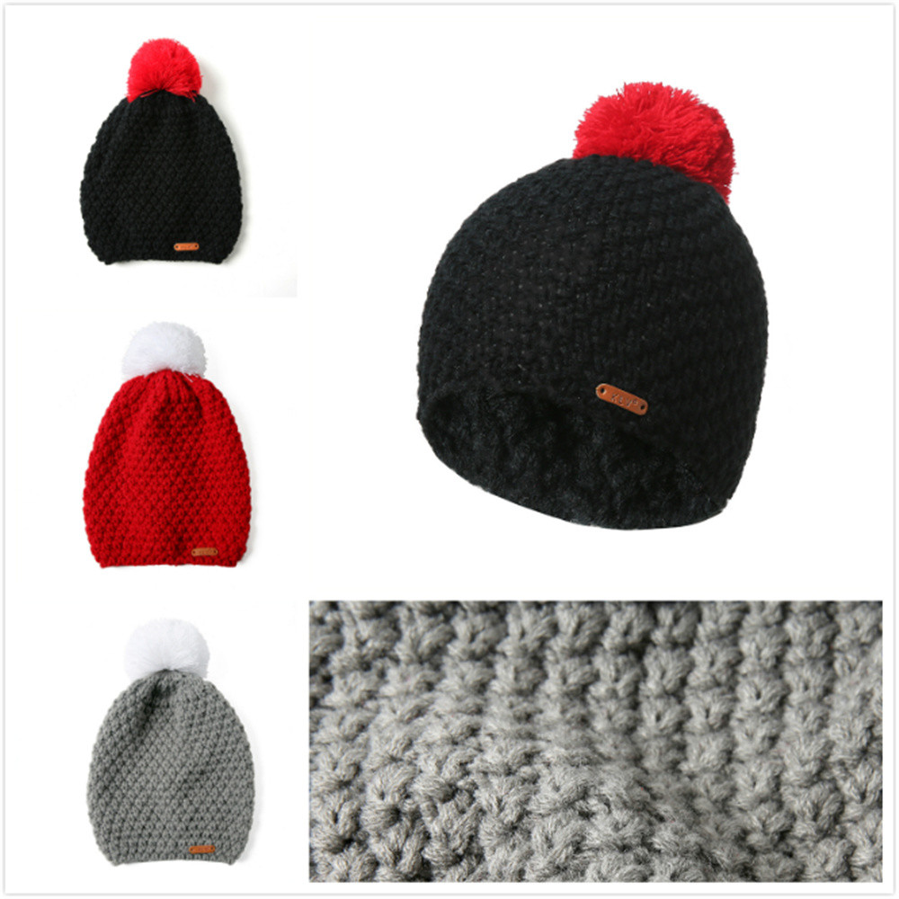 Hombres Mujeres Baggy caliente Crochet invierno lana Knit Ski Beanie ...