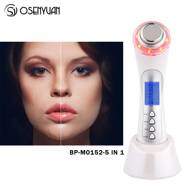 Home Use 3MHZ Ultrasonic Face Deep Cleaning Ion Nutrition Face Lifting Tonning Skin Renewal System Led