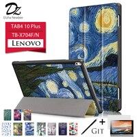 Dizha Case For Lenovo TAB4 10 Plus Magnet Glip Leather Case Smart Cover For Lenovo TAB4