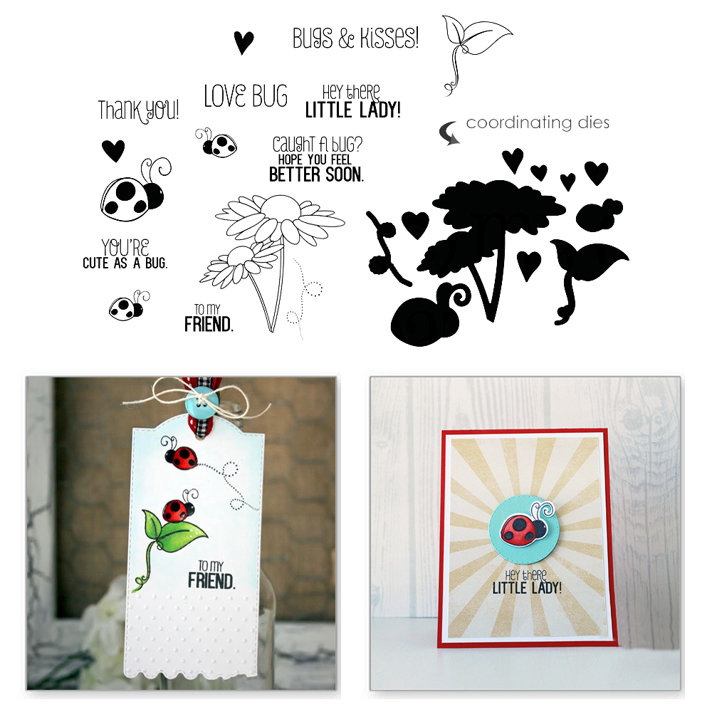 YaMinSanNiO Flower Insect Ladybug Animal Metal Stamps and Cutting Dies Scrapbooking New Sunflower Cuts Card Making